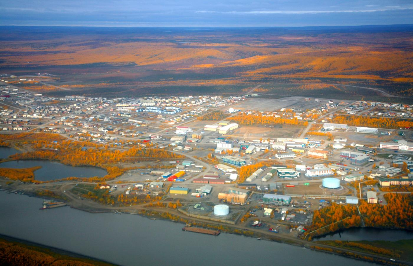 Town of Inuvik in the NWT