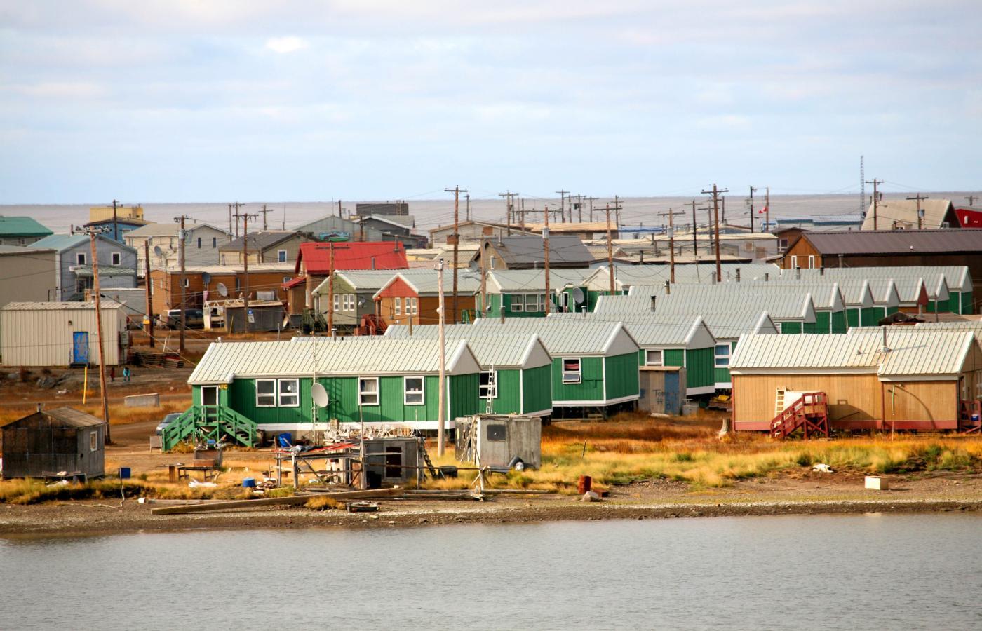 The town of Tuktoyaktuk, NWT.