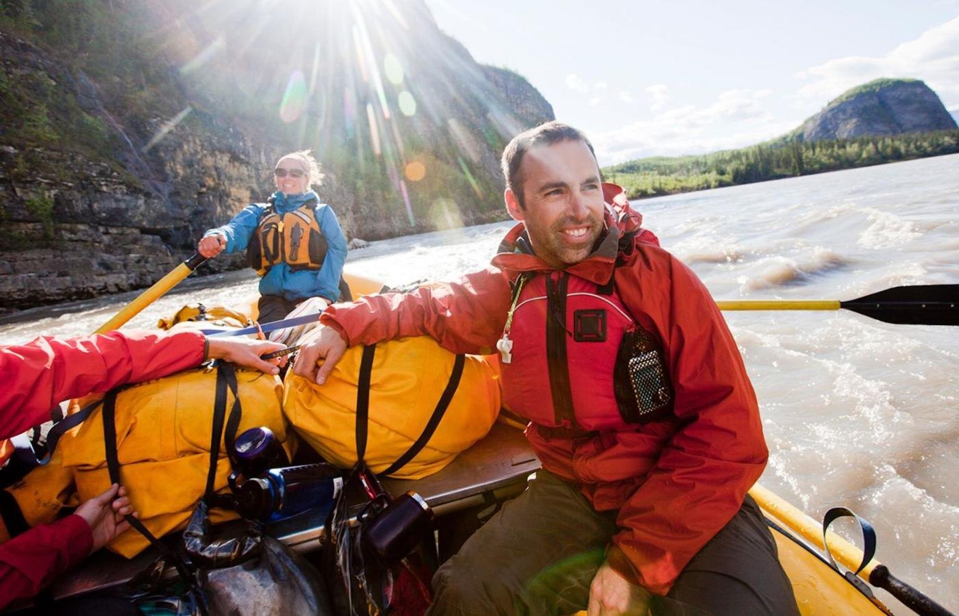 rafting on Nahanni river