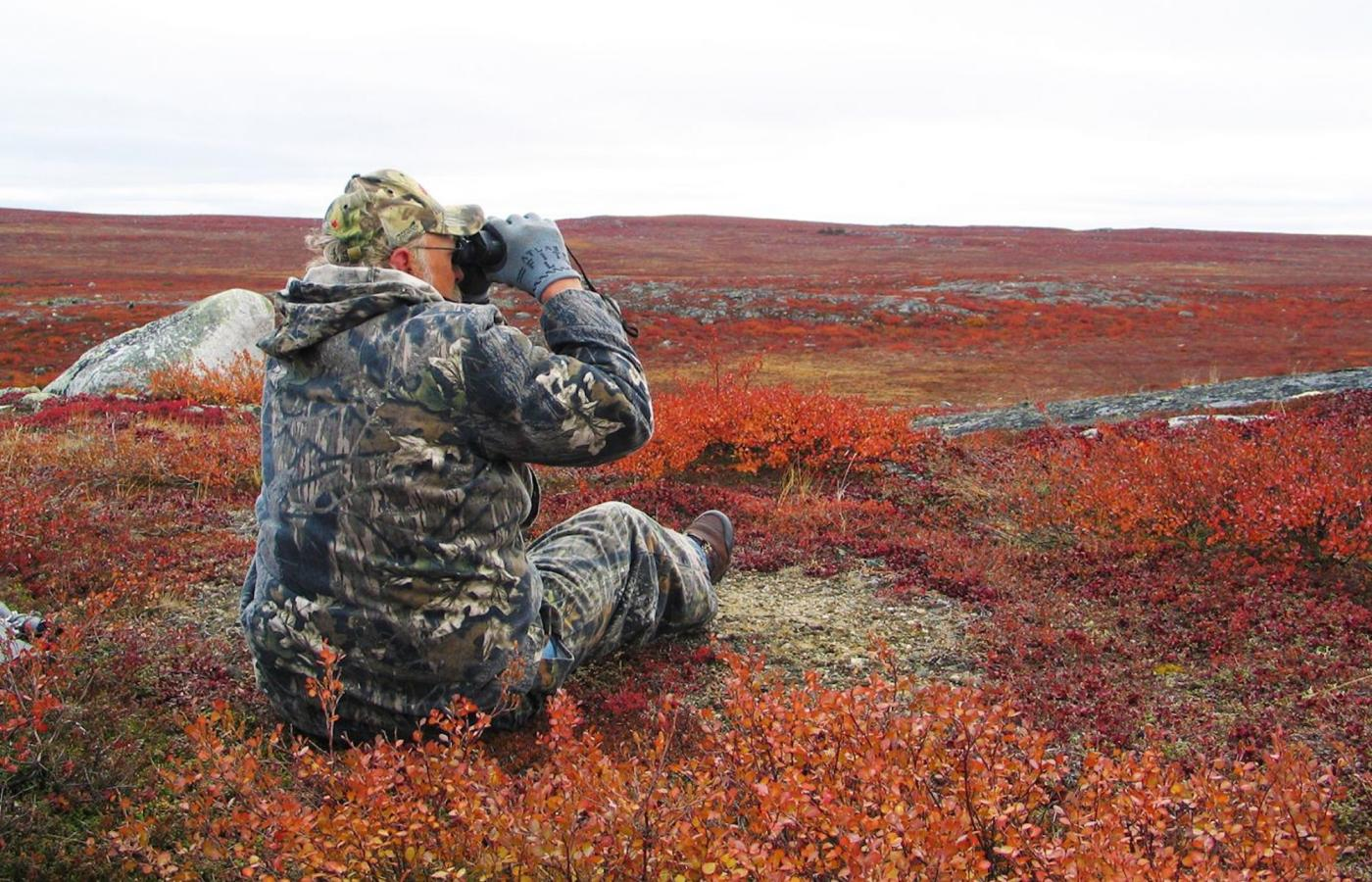 hunting in the barrenlands in the Northwest Territories