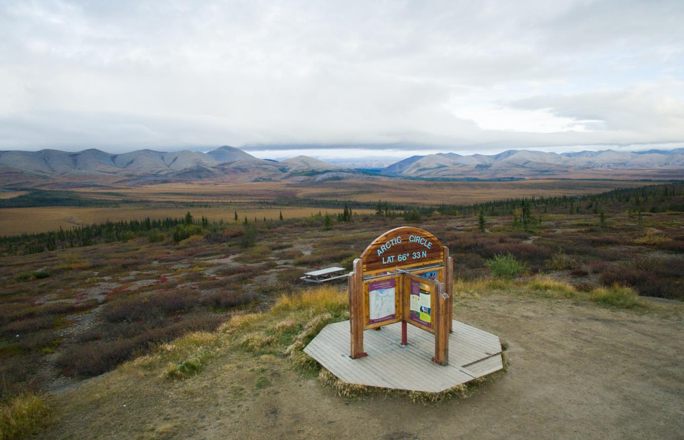 cross the arctic circle on your dempster highway roadtrip
