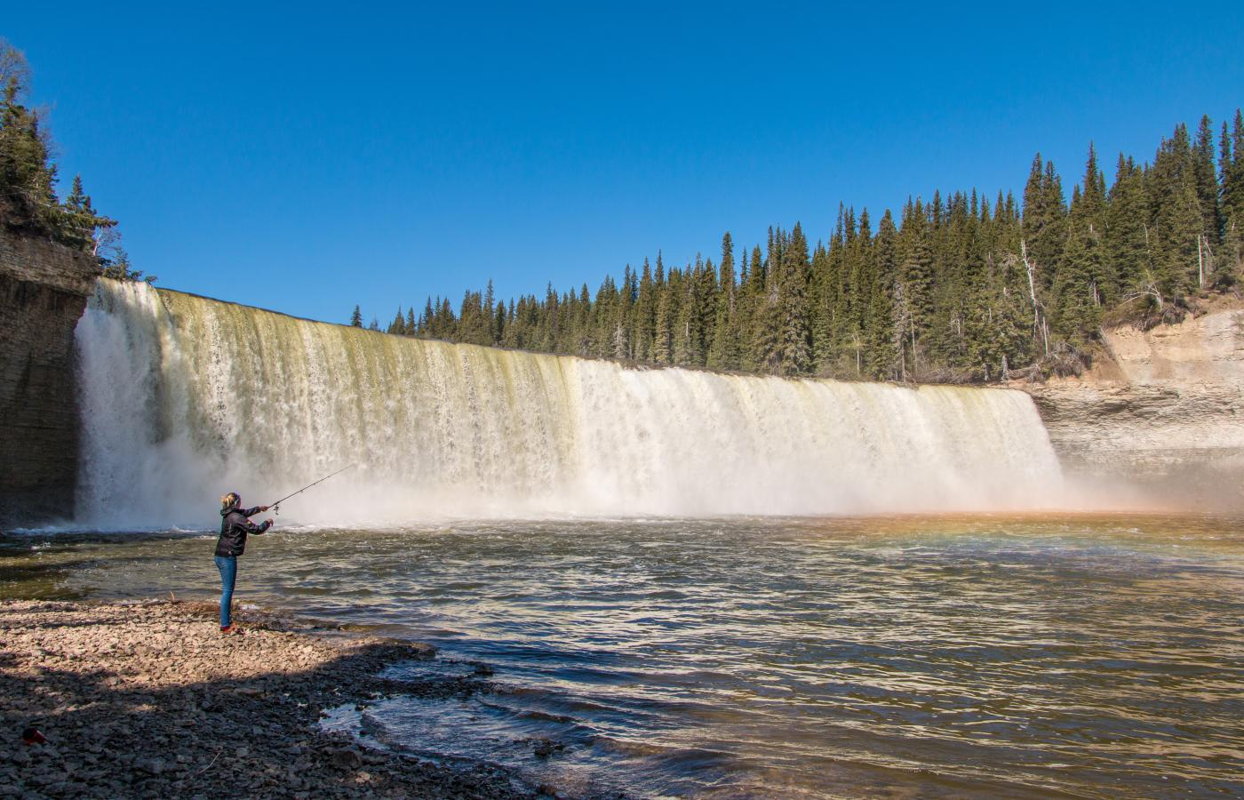 fly fishing at lady evelyn falls
