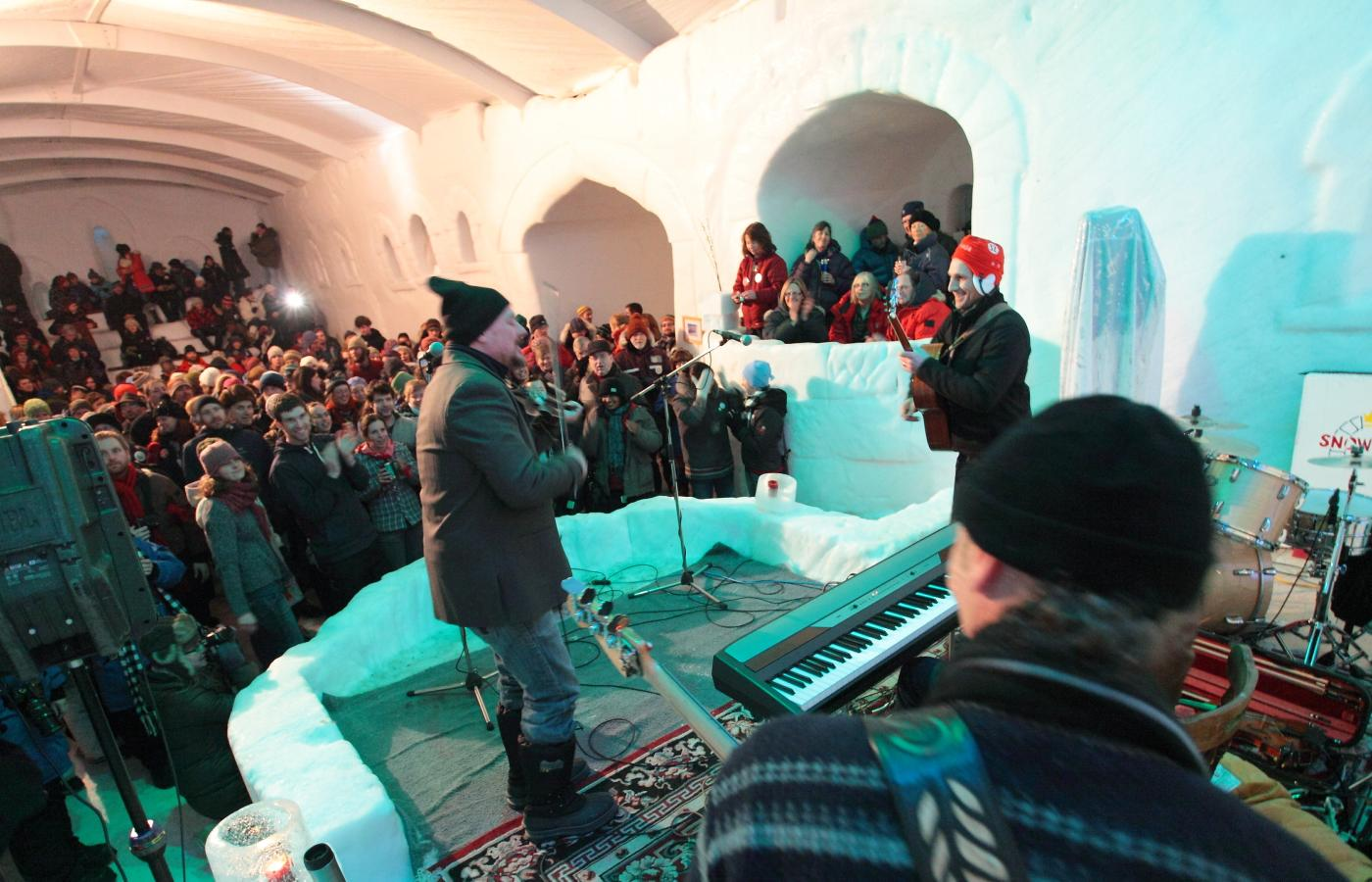 concert at the Snowking castle in Yellowknife in March