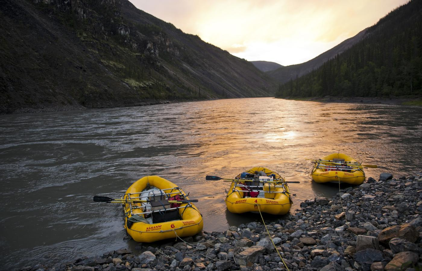 Nahanni River rafting and camping trip