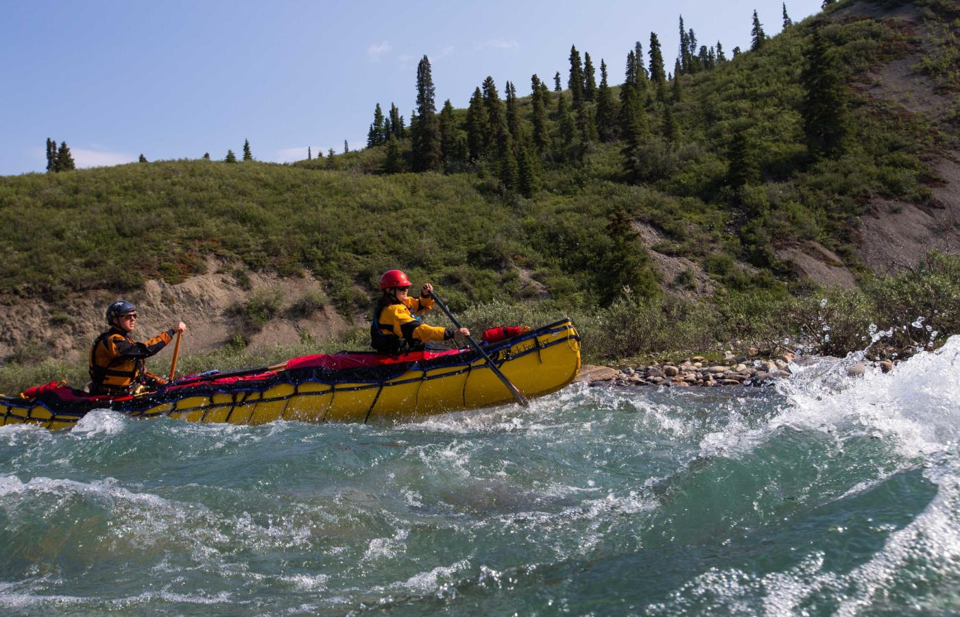 white water paddling broken skull river naats'ihch'oh national park
