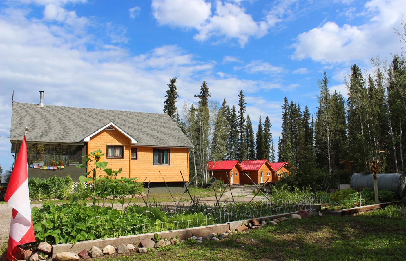 Captain's Cabins, south of Fort Providence on the Mackenzie River, in Canada's Northwest Territories.