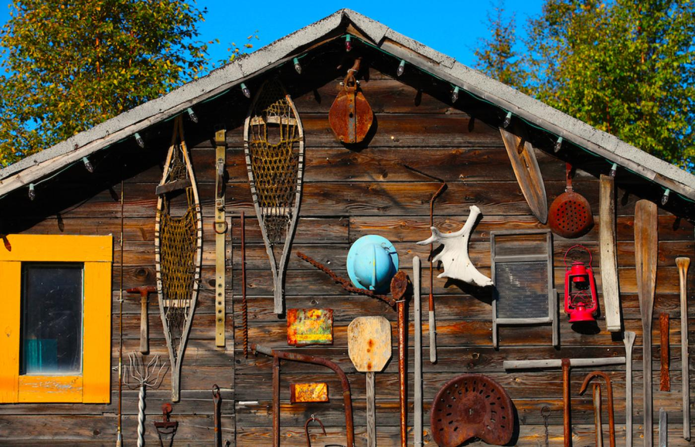 Eclectic shacks in Yellowknife, Northwest Territories