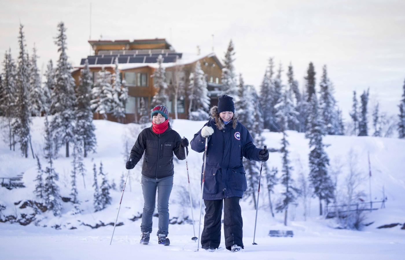 Snowshoeing at Blachford Lake Lodge in the Northwest Territories