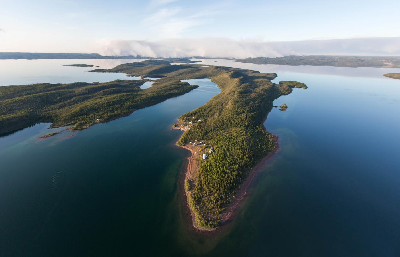 Fort Reliance on Great Slave Lake's East Arm in Canada's Northwest Territories