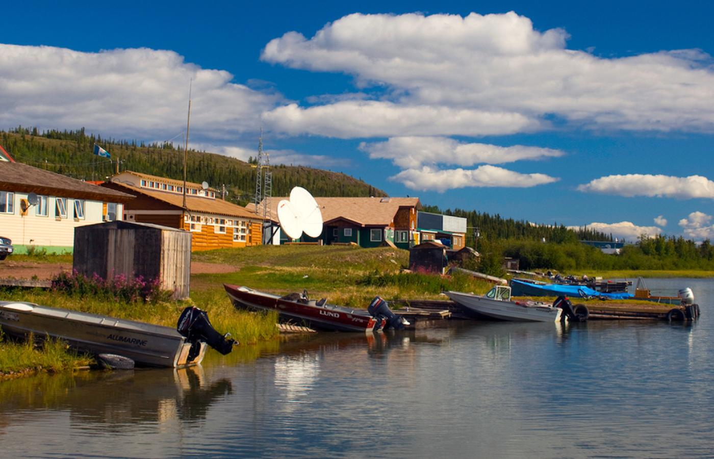 Many communities in Canada's Northwest Territories are located on the shores of Great Slave Lake or Great Bear Lake.