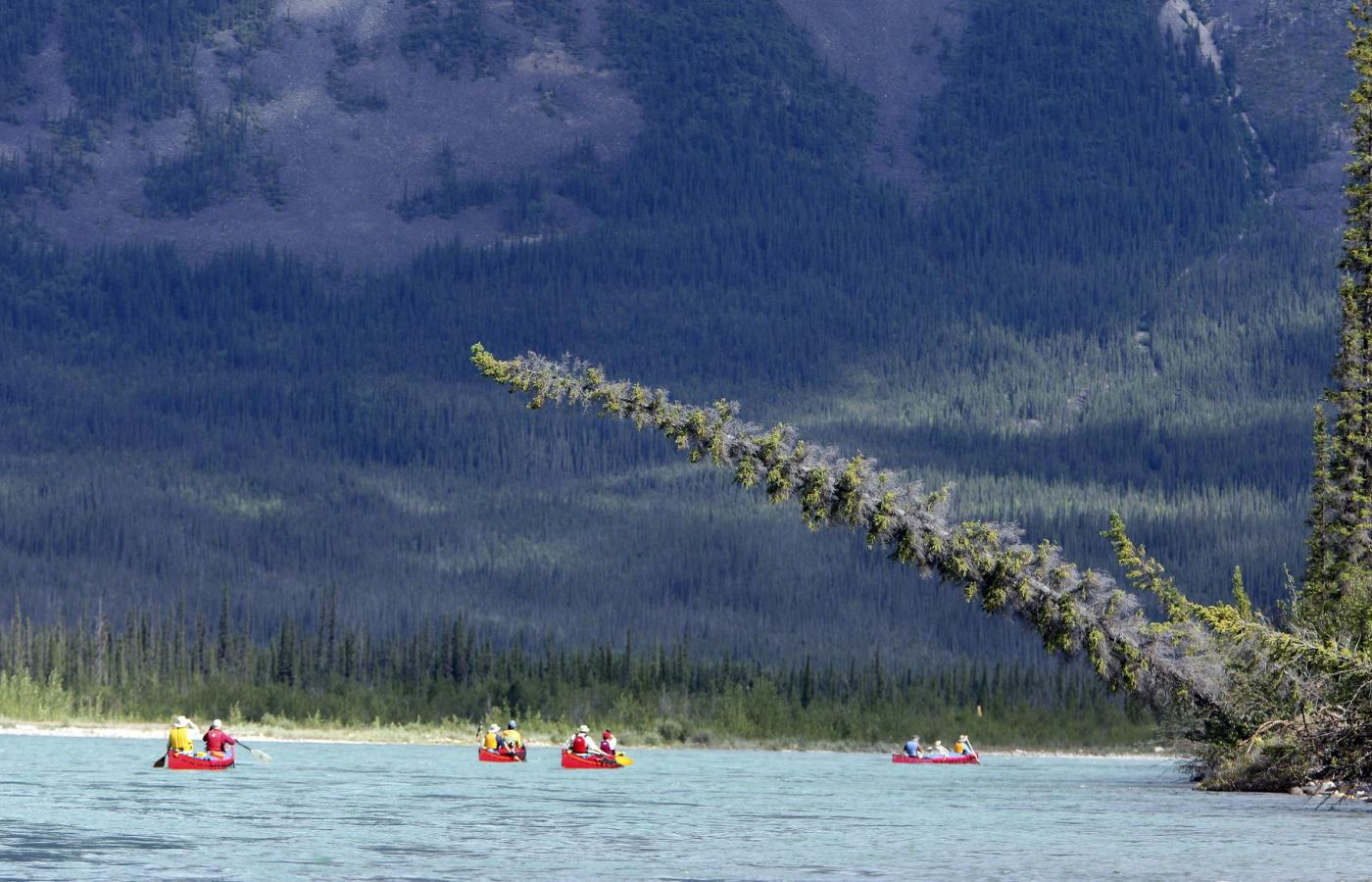 The Keele River runs through the Mackenzie Mountains in Canada's Northwest Territories