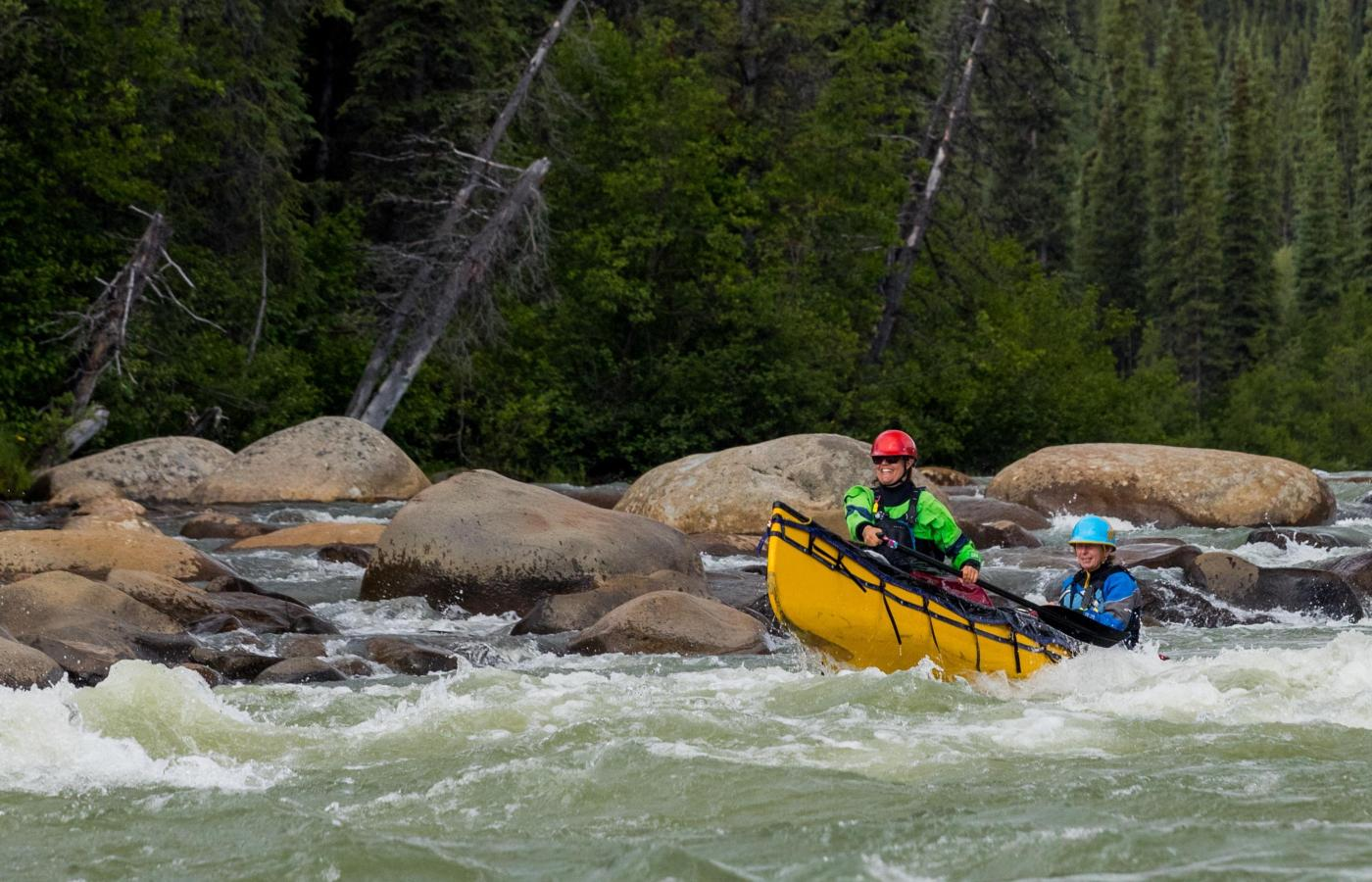 whitewater excitement canoeing in the Nahanni