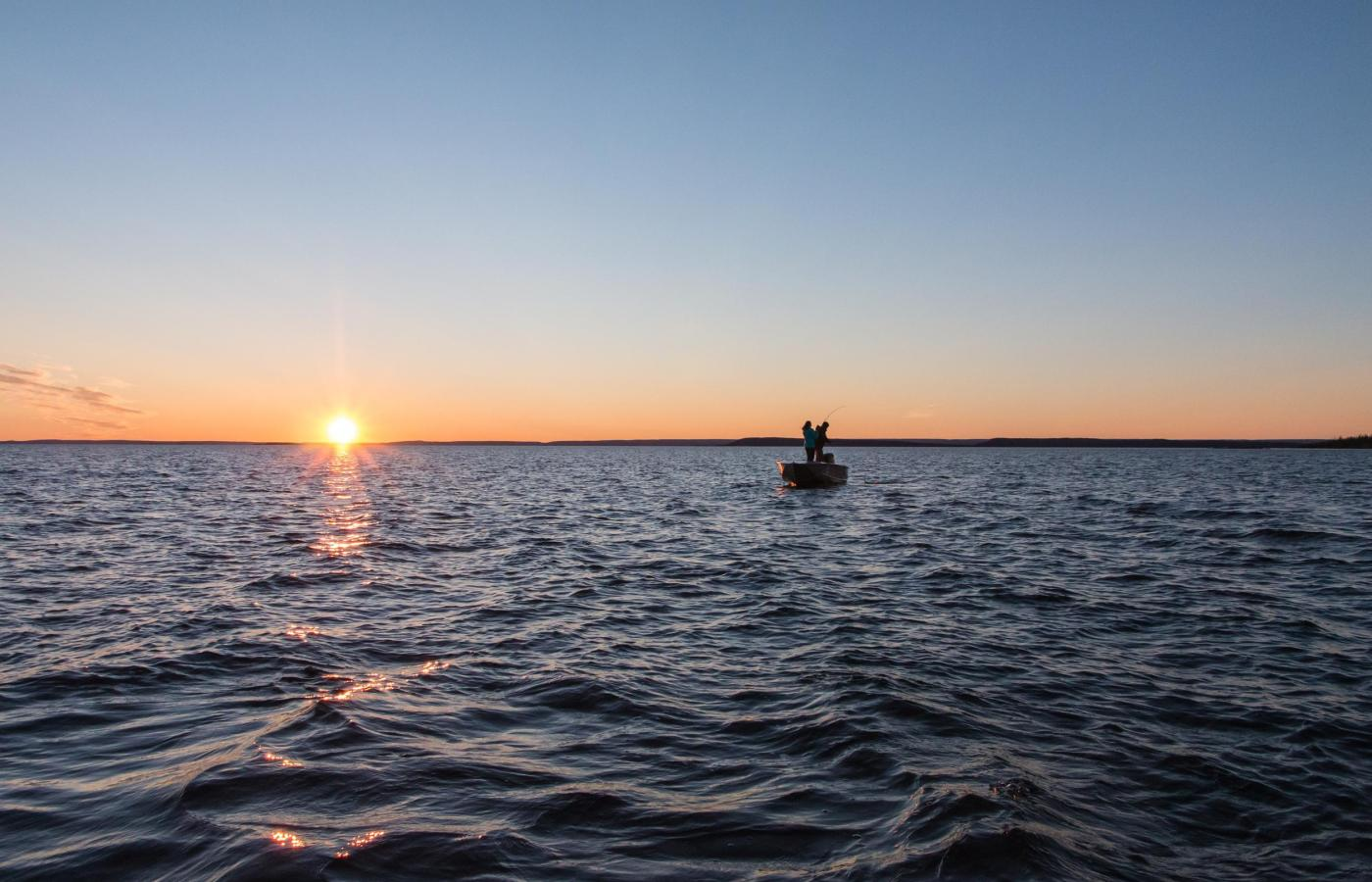 fishing under the midnight sun