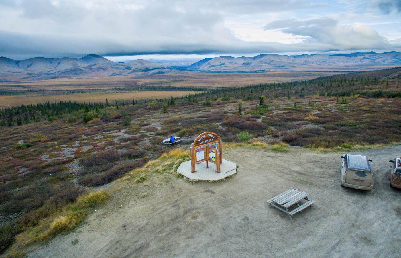 the arctic circle along the Dempster Highway