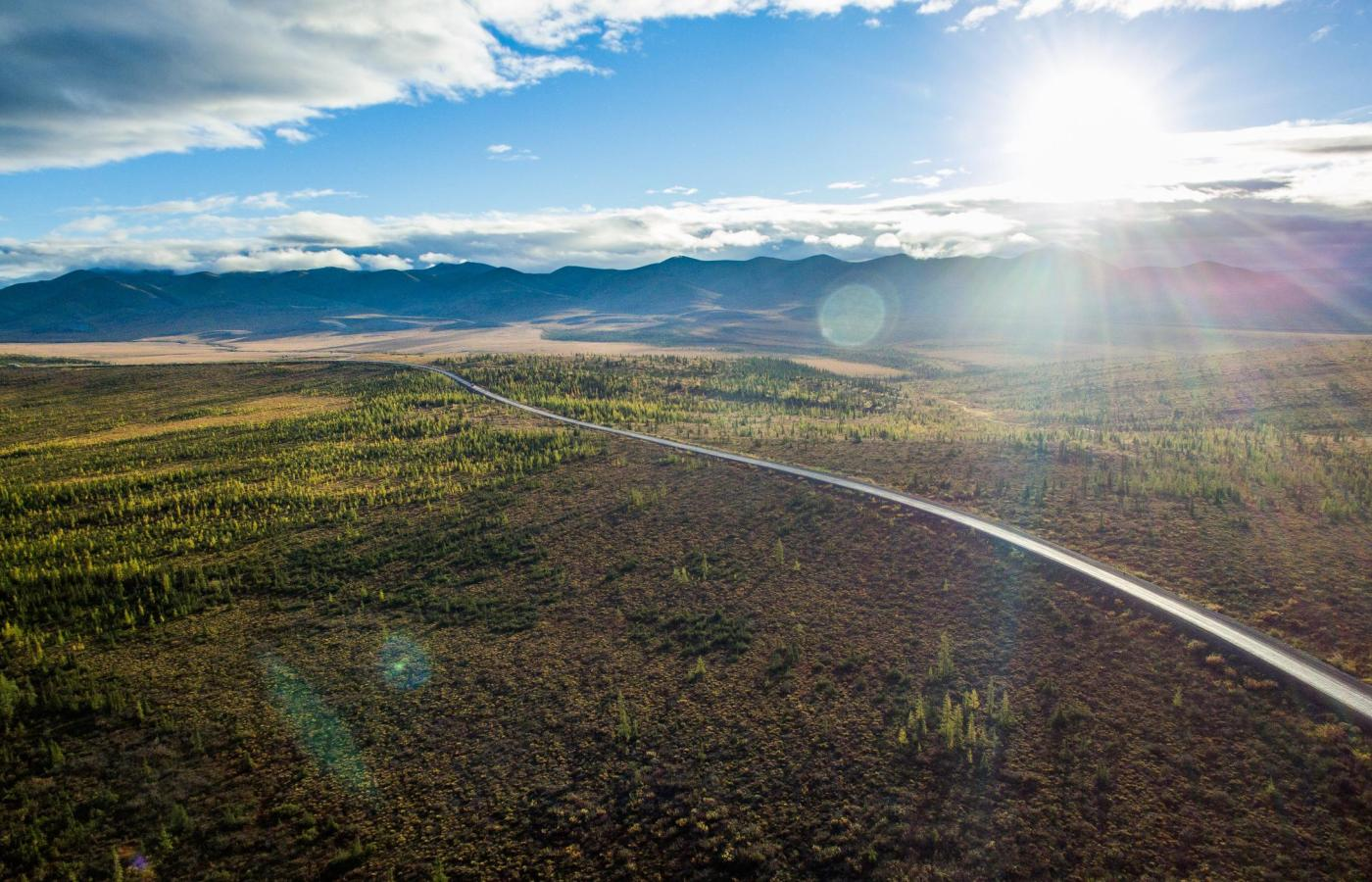 The Dempster Highway in all its midnight sun summer glory