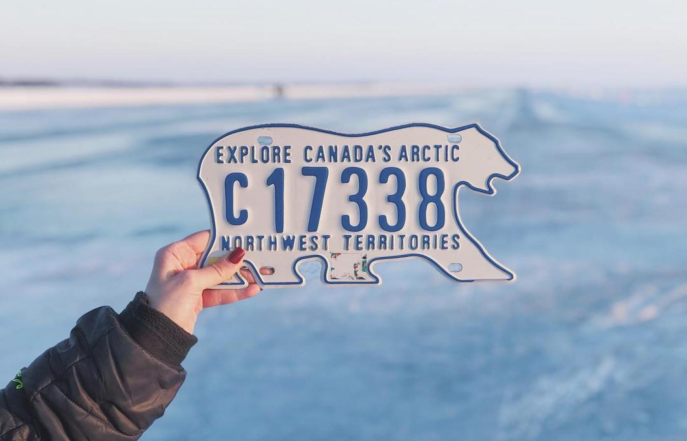 the world famous NWT license plate