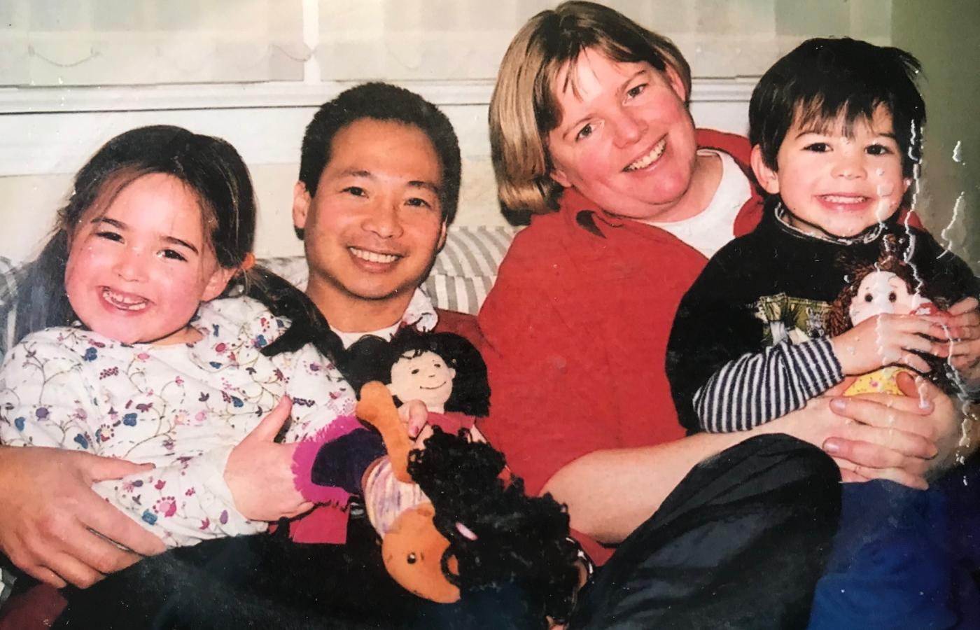 Khoan Pham poses with his family in the Northwest Territories