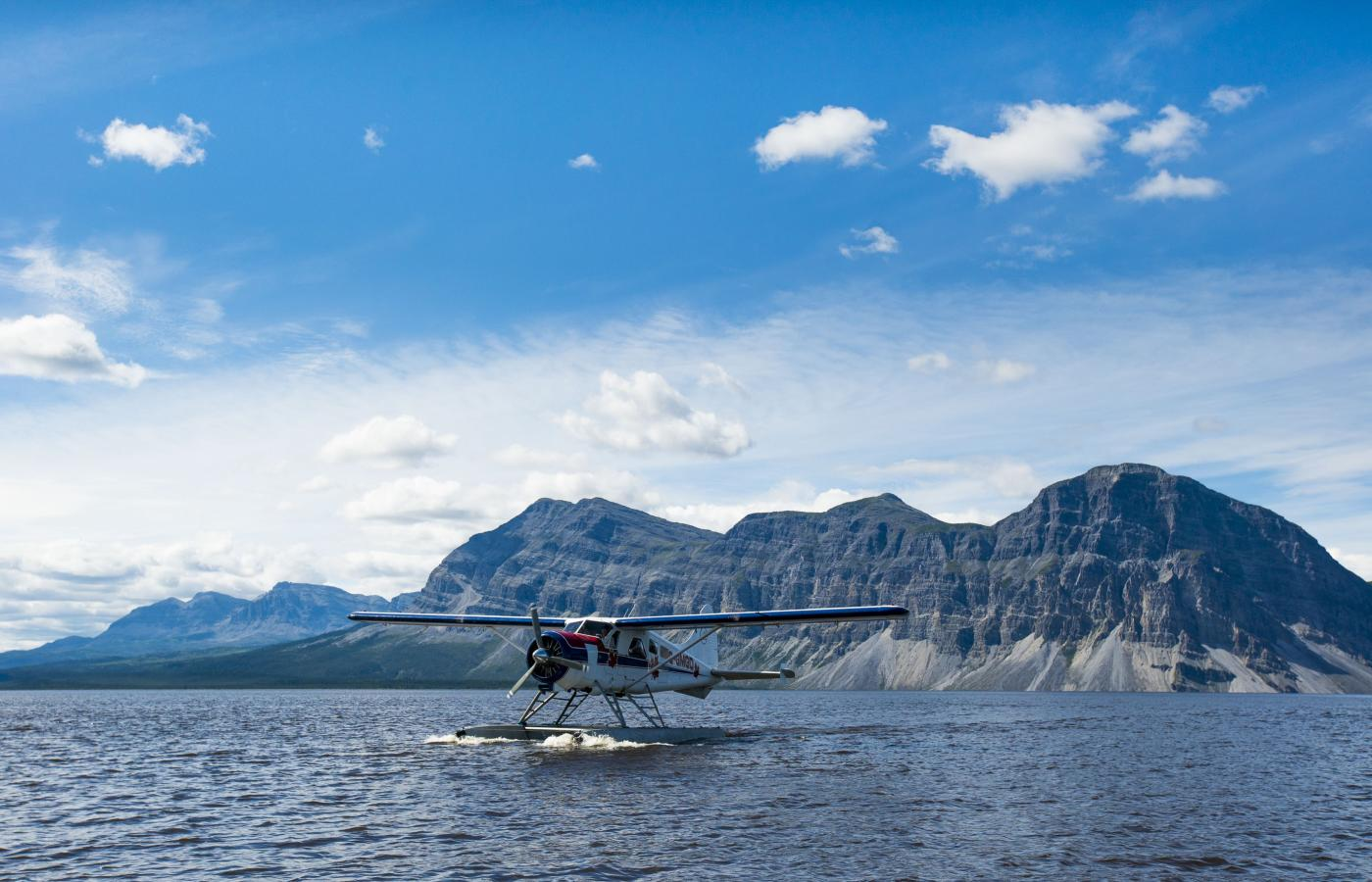 A float plane on the water in Nahanni National Park in the spectacular Northwest territories