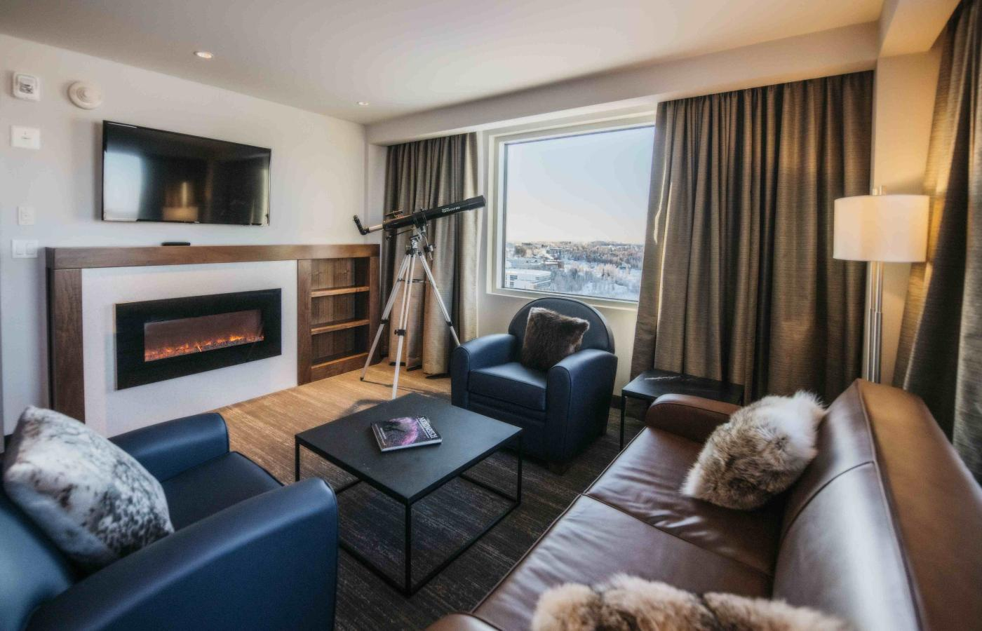 Aurora Signature suite in the Explorer Hotel in Yellowknife, Northwest Territories