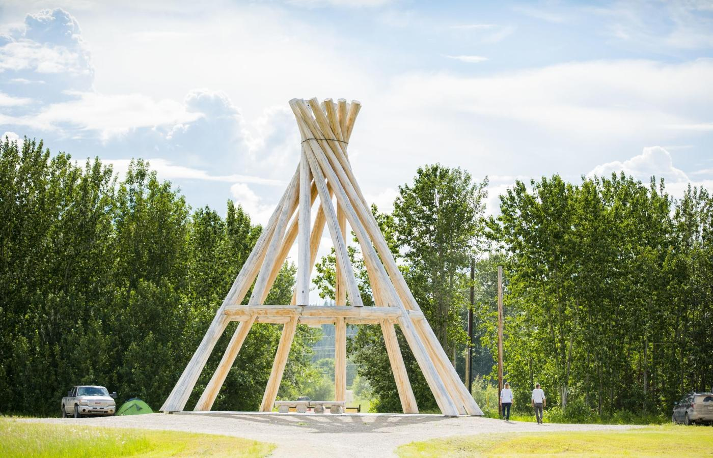fort simpson largest wooden teepee