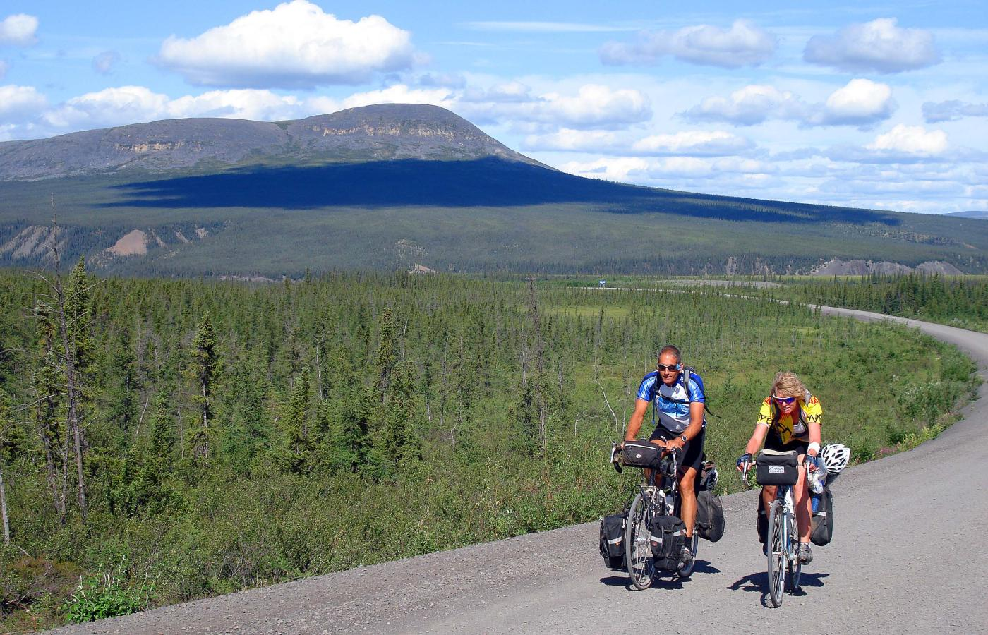 Cycling up the Dempster Highway is a feast for the eyes and ears in Canada's Northwest Territories