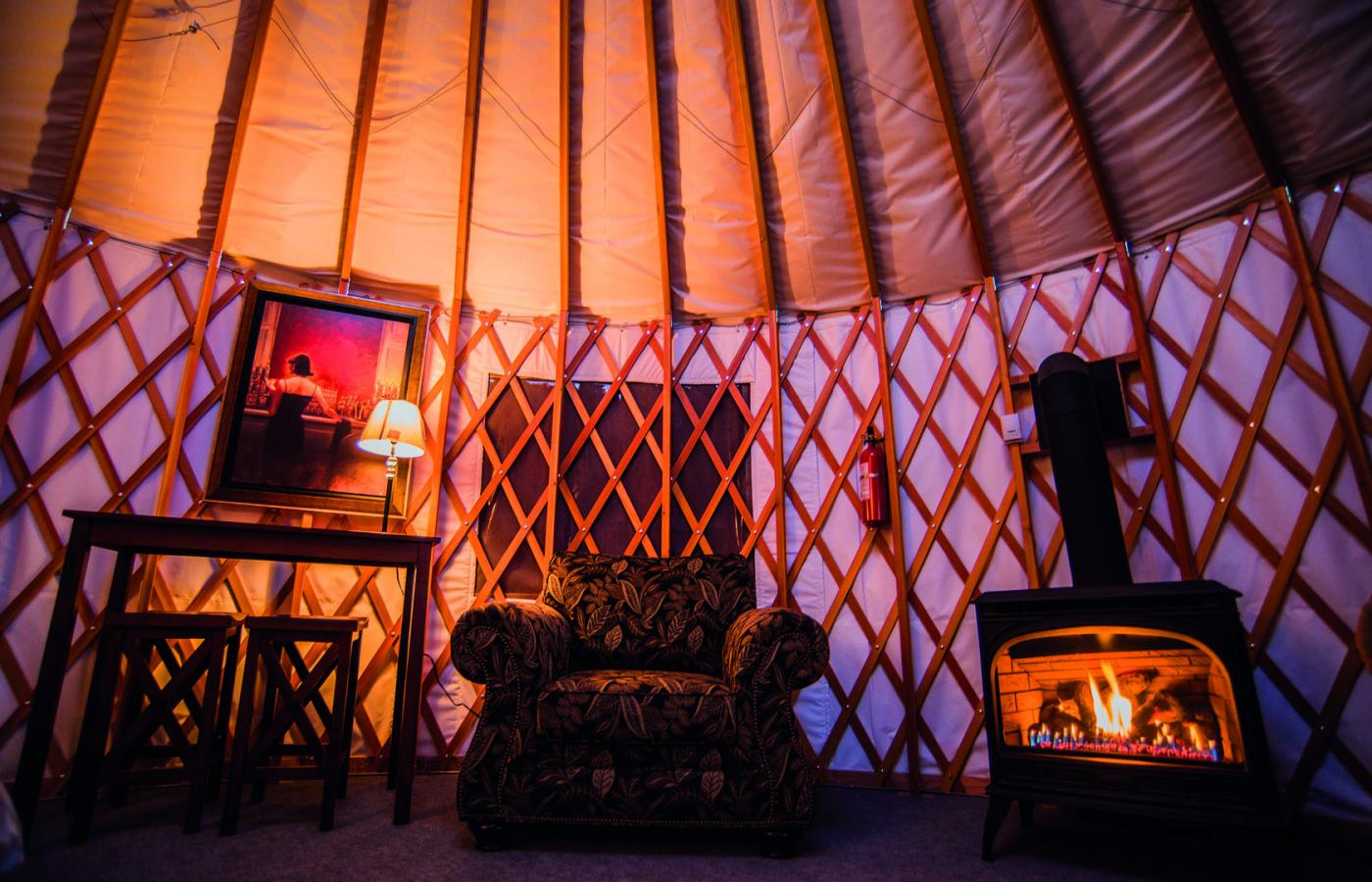 2 Seasons Adventures in Hay River, Northwest Territories, Canada has a Mongolian yurt that you'll never want to leave