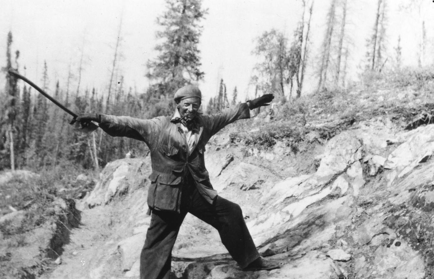 Johnny Baker discovered gold on the shore of Great Slave Lake near Yellowknife.