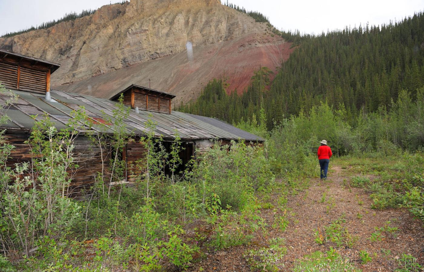Old military barracks along the Canol Trail, a legendary hike through Canada's Northwest Territories.