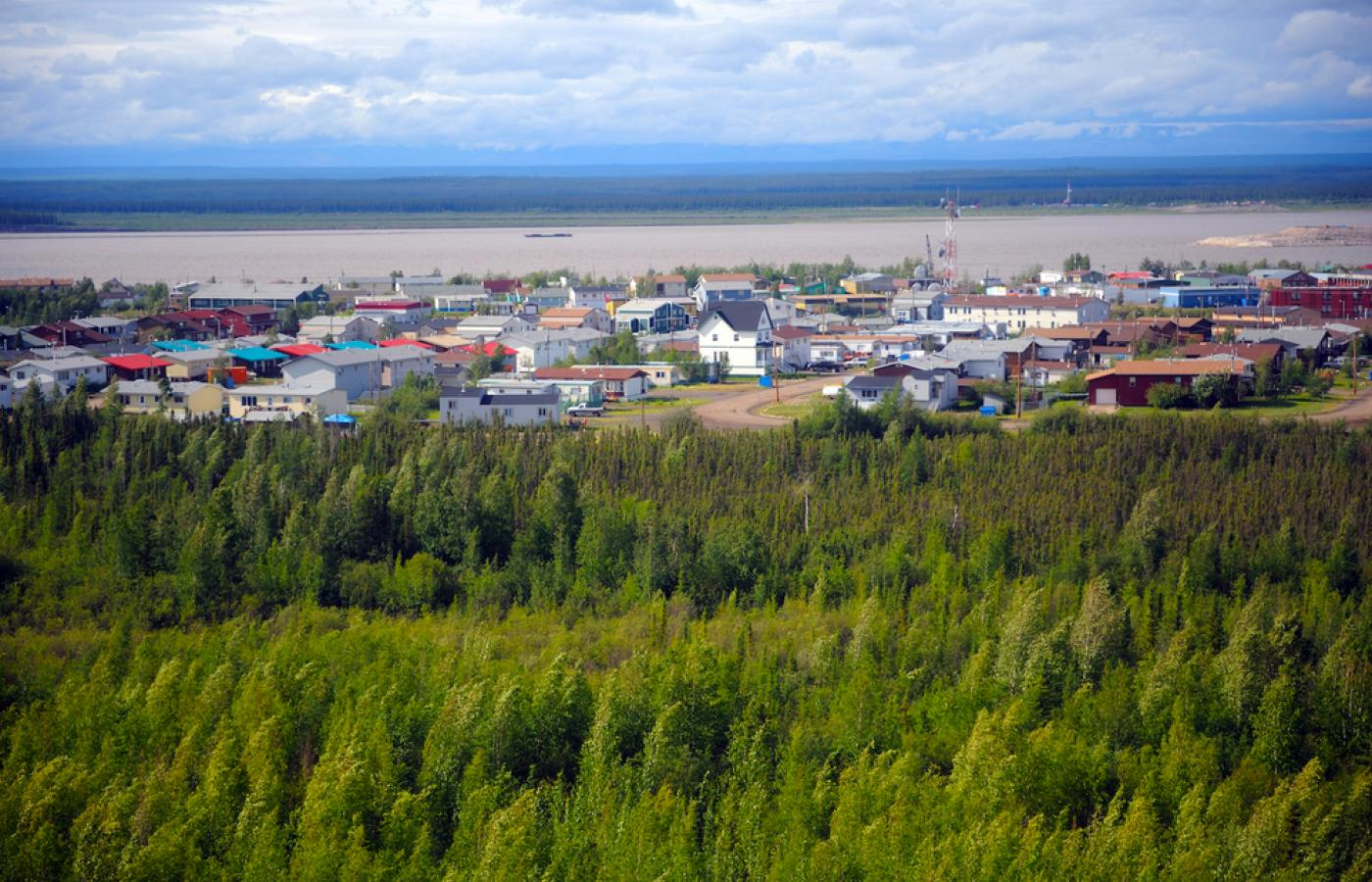 The town of Norman Wells is the hub of the Sahtu region in Canada's Northwest Territories