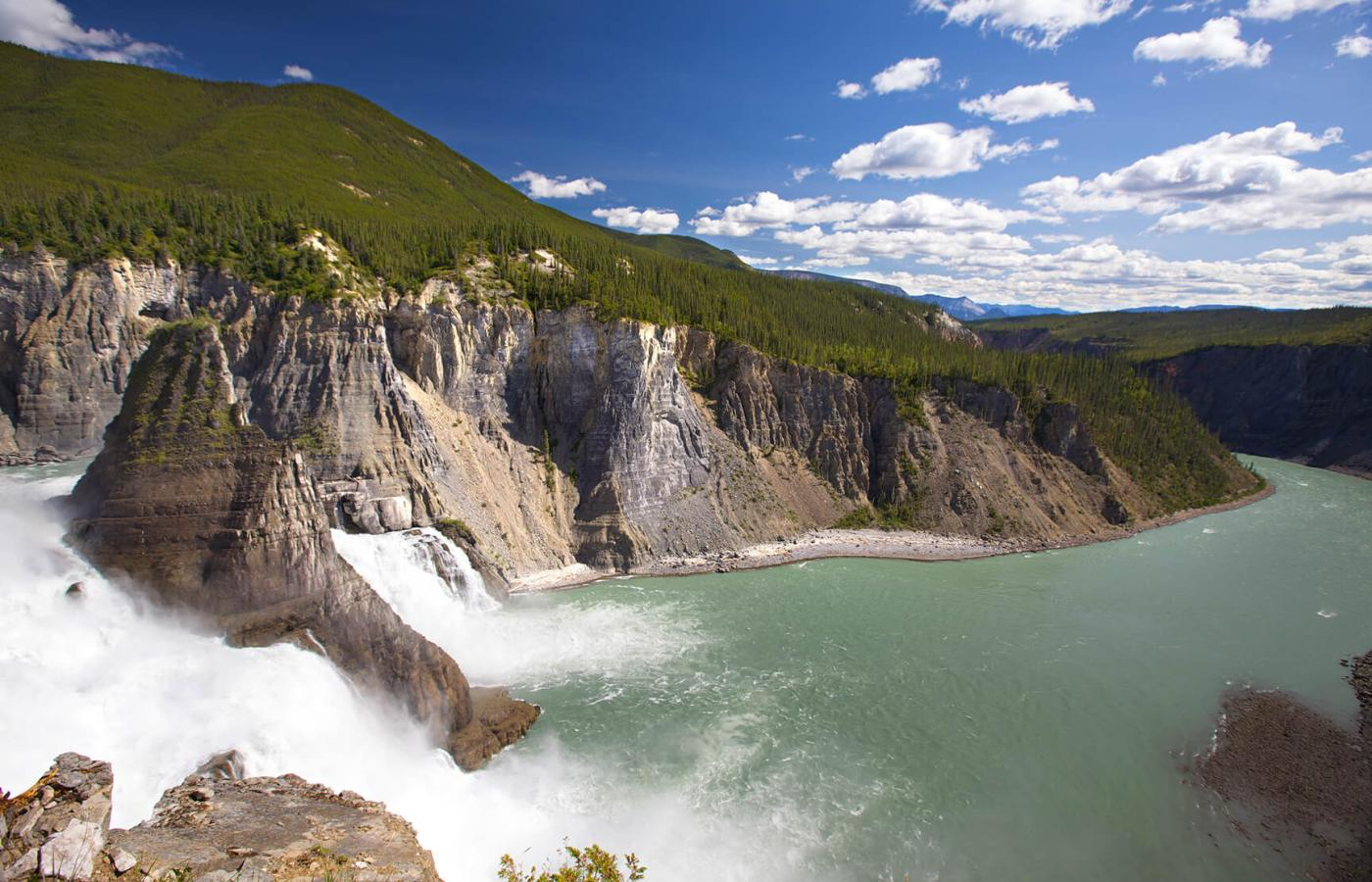 Virginia Falls in Nahanni National Park