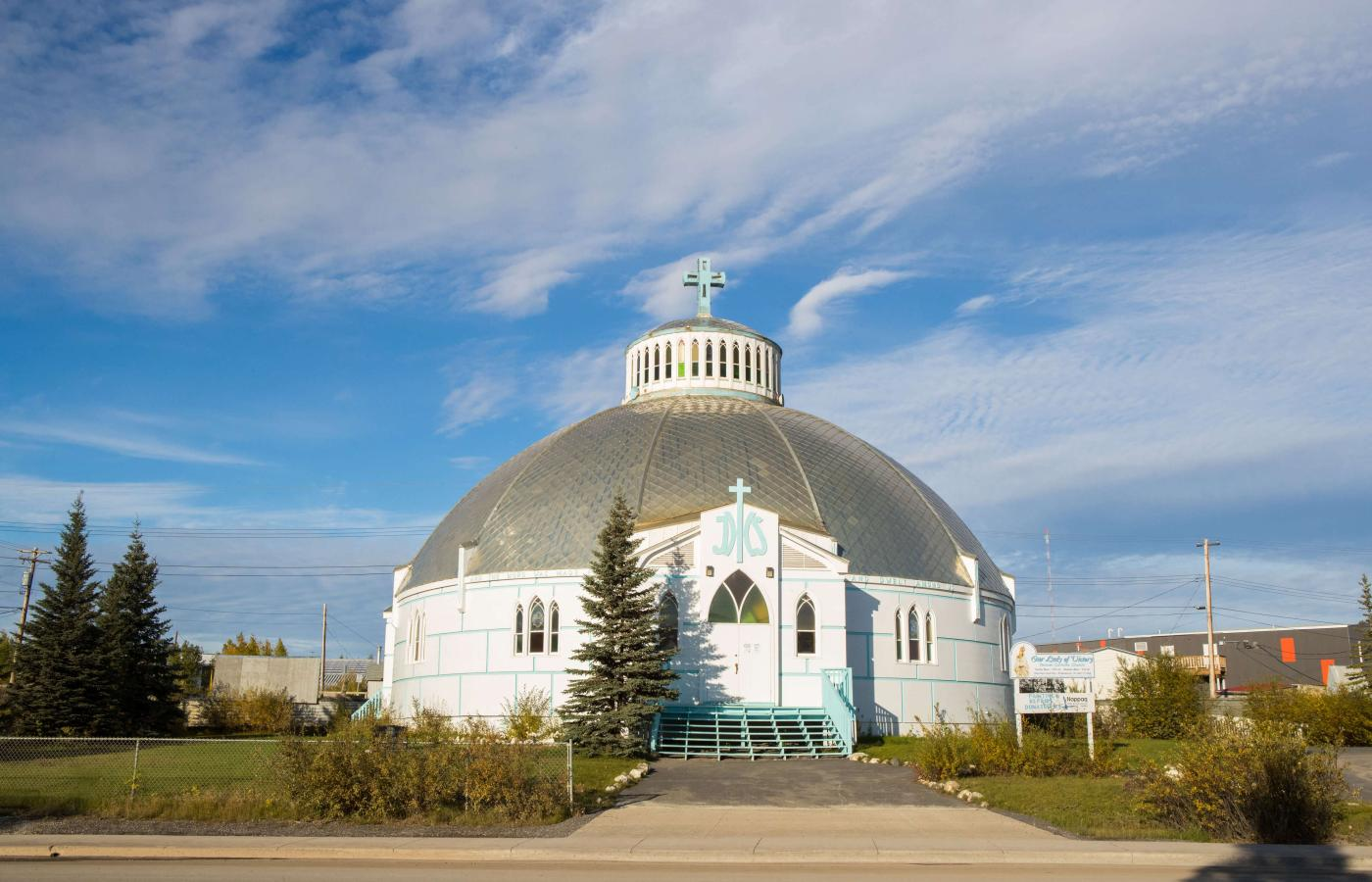 'Our lady of Victory' igloo church in Inuvik