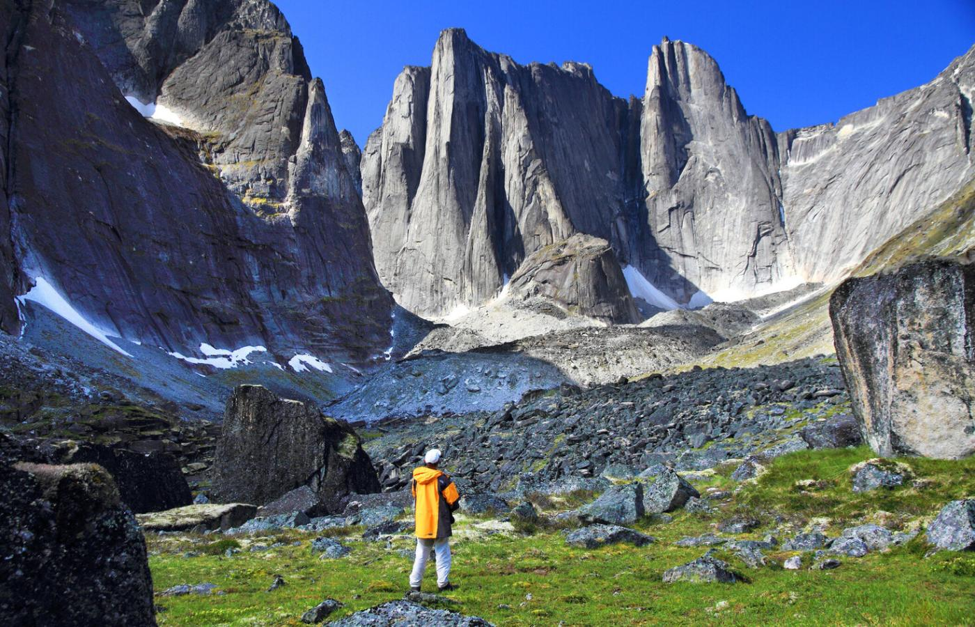 A breathtaking view of the Cirque of the Unclimbables in the Nahanni National Park Reserve in Canada's Northwest Territories
