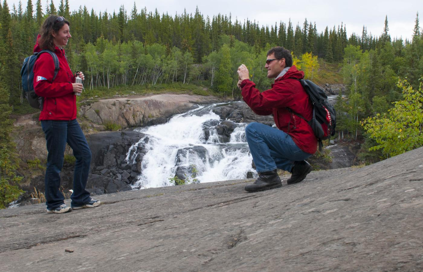 Cameron Falls is a short drive outside of Yellowknife, Northwest Territories, Canada