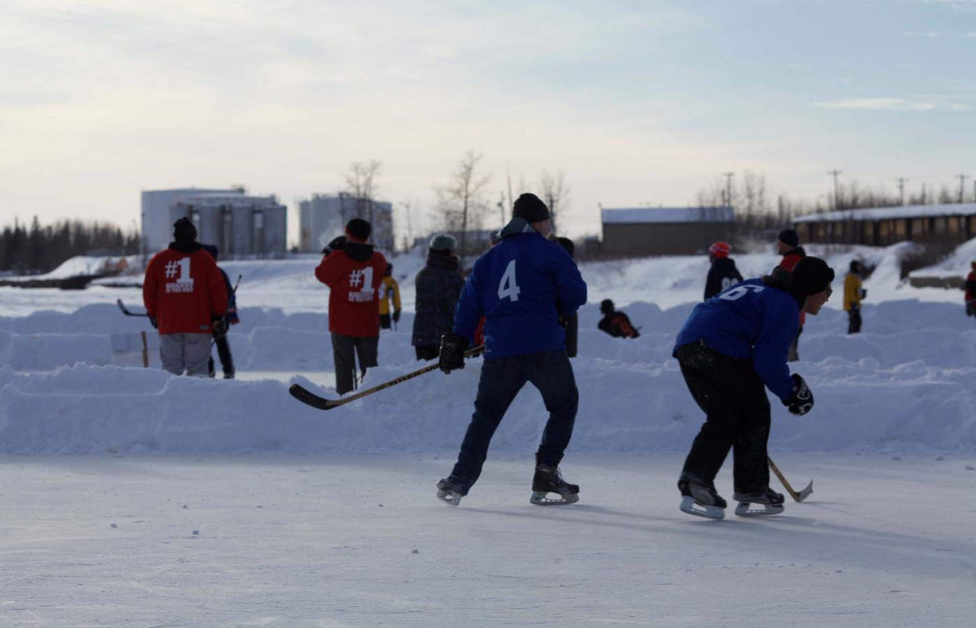 The Polar Pond Hockey Tournament in Hay River, Northwest Territories