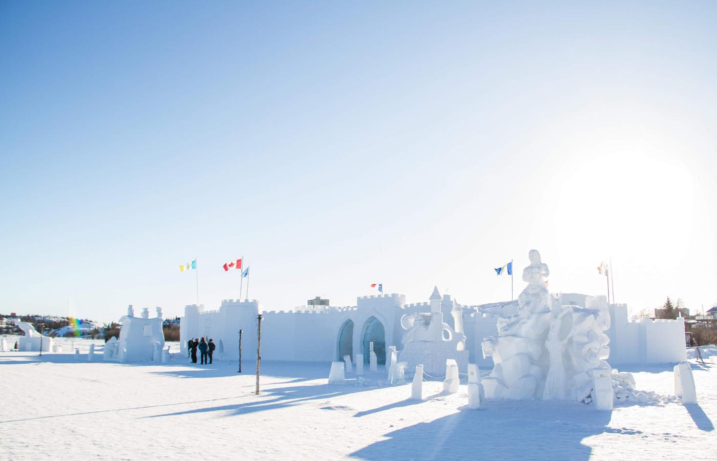 The SnowKing festival in Yellowknife, Northwest Territories