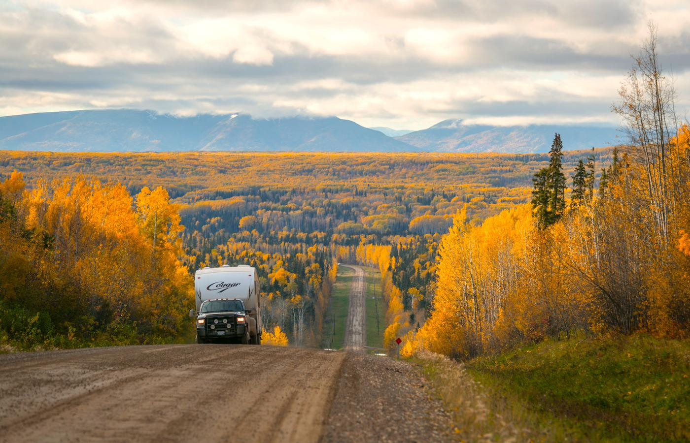 The vibrant fall colours along the NWT's Dempster Highway into the Western Arctic.