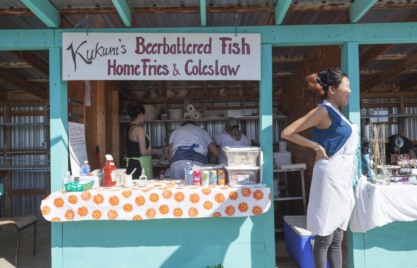 fresh fish at fishermans wharf is hay river