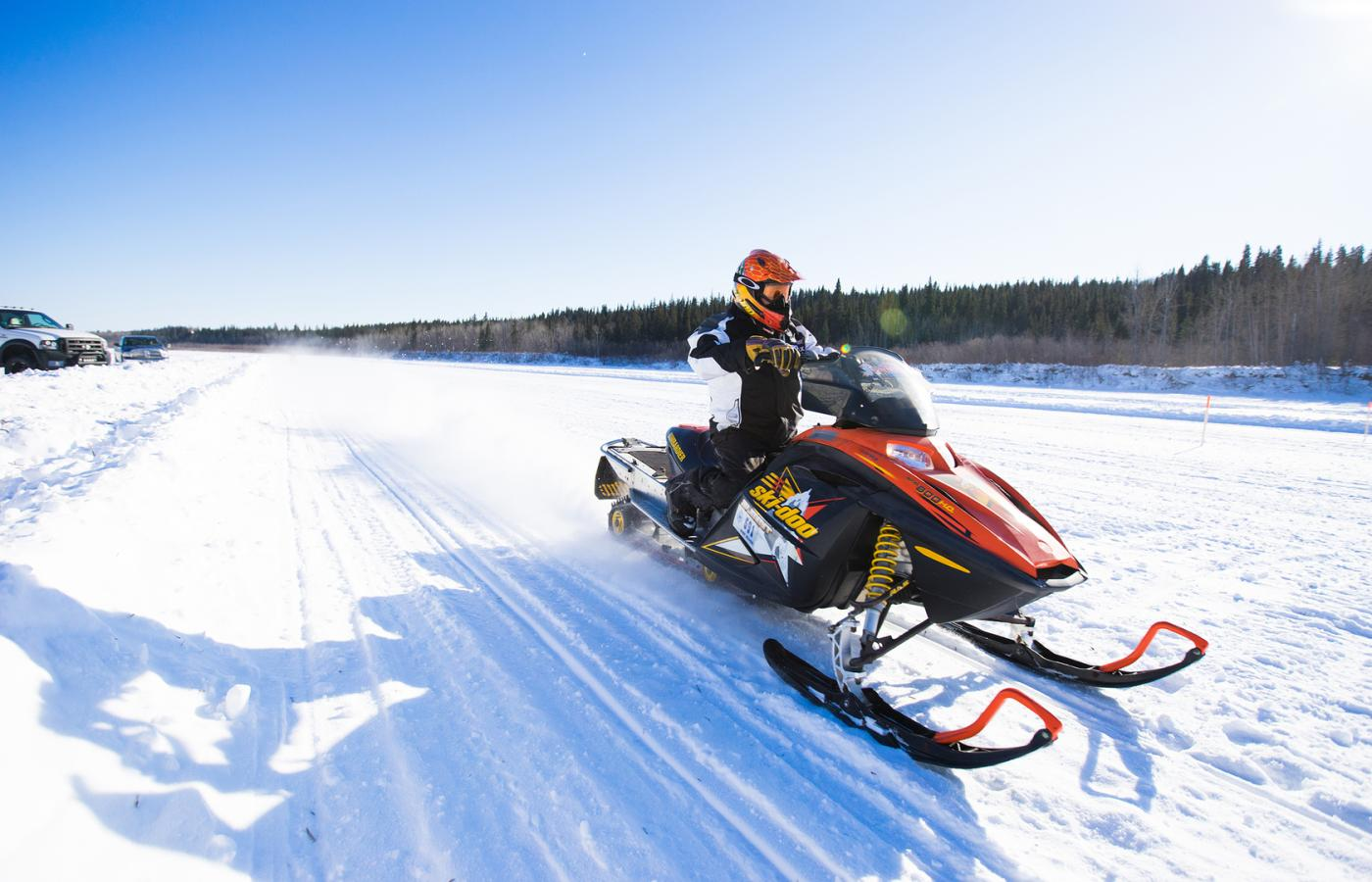 snowmobile skidoo in the dehcho