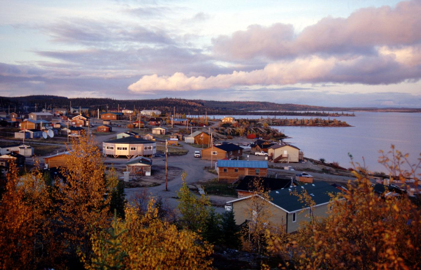 The town of Wekweeti, Northwest Territories, Canada, on the cusp of the treeline.