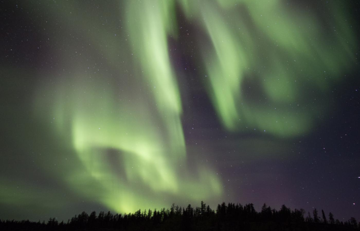 Aurora viewing at the Yellow Dog Lodge in the NWT.