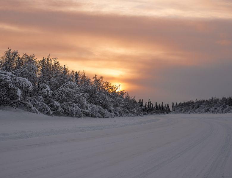 sunrise in inuvik