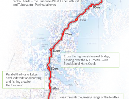 The proposed Tuktoyaktuk route to the Arctic Ocean