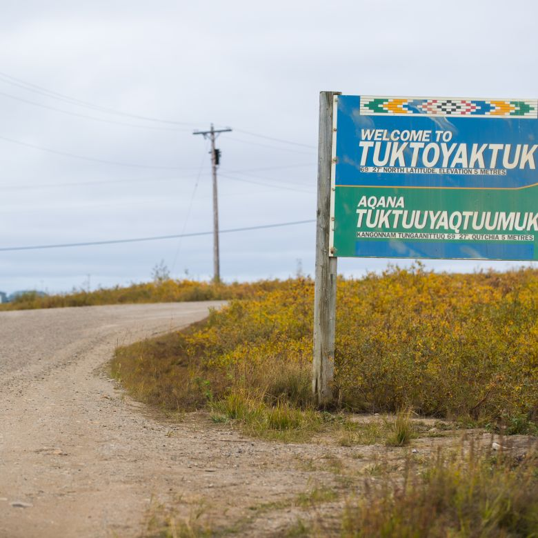 Welcome to Tuk sign